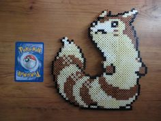 Furret Pokemon Perler Bead Sprite