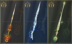 Night Dancer, staff adopt (CLOSED) by Rittik-Designs on DeviantArt Anime Weapons, Fantasy Weapons, Fantasy World, Fantasy Art, Tinkerbell Movies, Armas Ninja, Sword Design, Weapon Concept Art, Bellatrix