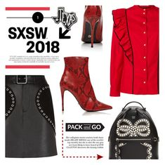 """Pack and Go: SXSW"" by dixiebelle81 ❤ liked on Polyvore featuring Philosophy di Lorenzo Serafini, Maje, Fendi, Kurt Geiger and Primitives By Kathy"
