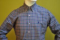 New Ralph Lauren Cusom Fit Red Green Plaids Sport Shirt Long Sleeve Size M