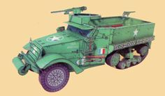 WWII M3A1 Half-Track Scout Car Free Vehicle Paper Model Download - http://www.papercraftsquare.com/wwii-m3a1-half-track-scout-car-free-vehicle-paper-model-download.html#131, #HalfTrack, #M3, #M3HalfTrack, #M3A1, #ScoutCar, #VehiclePaperModel, #WWII