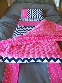 PINK CHEVY Thick Nap Mat with Attached by GratefulHempwork on Etsy