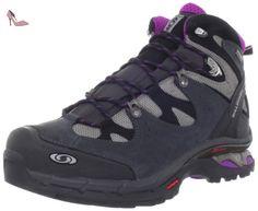 Salomon Comet 3D, Chaussures de Randonnée Hautes femme, Multicolore (Pewter/Asphalt/Anemone Purple), 38 EU - Chaussures salomon (*Partner-Link)