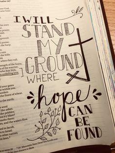 Bible Journaling Ideas - O'Lord //Lauren Daigle