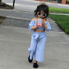 starbucks in hand and she's ready to be a boss. Does this outfit come in my size? Little Girl Outfits, Cute Outfits For Kids, Little Girl Fashion, Toddler Outfits, Kids Fashion, Baby Girl Dresses, Baby Dress, Trendy Kids, Kids Wear