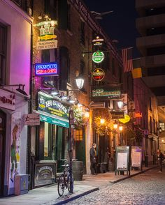 Dublin at Night. That's Burdock's Fish and Chips---the best---get the lemon sole goujons with garlic mayonnaise! Emily:)