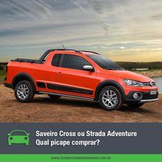 A Volkswagen Saveiro Cross e a Fiat Strada Adventure fazem um grande sucesso entre os consumidores e têm quase a mesma faixa de preço. E aí, qual delas comprar? Acesse nossa matéria e escolha a sua: https://www.consorciodeautomoveis.com.br/noticias/saveiro-cross-x-fiat-strada-adventure-qual-comprar?idcampanha=206&utm_source=Pinterest&utm_medium=Perfil&utm_campaign=redessociais