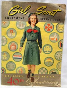 GIRL SCOUTS OF AMERICA EQUIPMENT PUBLICATION CATALOG SPRING 1952 VINTAGE