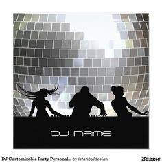 DJ Customizable Party Personalized Invitation