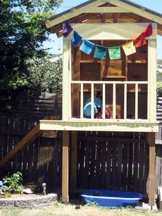 Happy Whimsical Hearts ~ cubby house play, my dad build me and my sister one very similar to this Kids Outdoor Play, Outdoor Play Spaces, Backyard For Kids, Outdoor Fun, Backyard Ideas, Outdoor Ideas, Garden Ideas, Kids Cubby Houses, Kids Cubbies