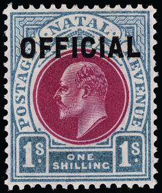 Philasearch.com - Natal, Scott O1-6, SG O1-6. O1-6 (O1-6) 1904 ½d-1' K Edward VII Officials, cplt (6), scarce and undercatalogued, OG,LH, F-VF  Anbieter Colonial Stamp Company  Saalauktion Ausruf: 415.00 US$ (ca. 329 EUR)