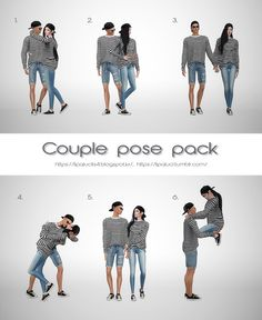 Couple pose pack for The Sims 4 by Lipaluci