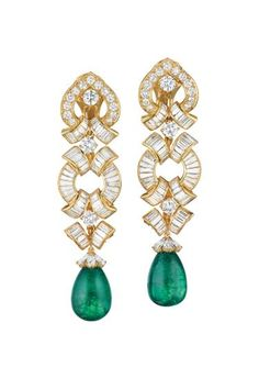 View Impressive Pair of Diamond and Emerald or Cultured Pearl Ear Pendants by David Webb Inc. on artnet. Browse upcoming and past auction lots by David Webb Inc. Emerald Earrings, Emerald Jewelry, Diamond Jewelry, Diamond Necklaces, Stud Earrings, David Webb, Emerald Gemstone, Emerald Diamond, Uncut Diamond