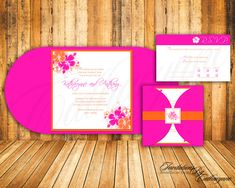 tropical wedding invitations | Tropical Wedding Invitations The Modern Hibiscus by catharynne
