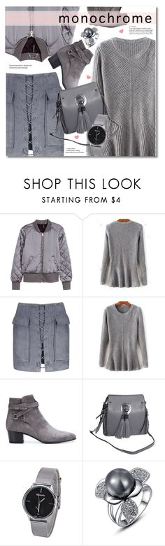 """""""One Color, Head to Toe"""" by svijetlana ❤ liked on Polyvore featuring H&M, Yves Saint Laurent, monochrome and rosegal"""