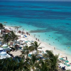 Cancun, Mexico, and the water is just that blue....so georgeous