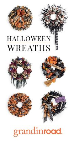 Find the perfect Halloween wreath and greenery to welcome your guests. From spooky, to fun, to traditional, you love our great variety of Halloween decor. Holidays Halloween, Fall Halloween, Halloween Wreaths, Happy Halloween, Halloween Party, Halloween Fireplace, Fireplace Mantel, Halloween Projects, Halloween Themes