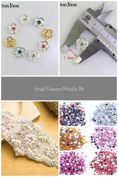 Small Flowers Metallic Rhinestone Applique Sew On Trim Applique Hat Hair Sewing Pieces Bow Deco Black Rhinestone, Rhinestone Jewelry, Clothing Patches, Applique Wedding Dress, Rhinestone Appliques, Hat Hairstyles, Nail Art Diy, Small Flowers, Rhinestones