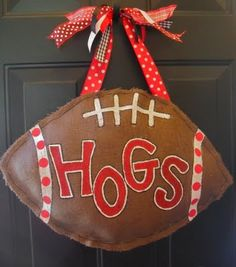 DIY for burlap football.