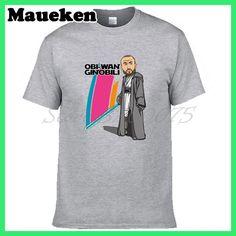 Men Obi-Wan Ginobili #20 Manu Ginobili T-shirt Tees Short Sleeve T SHIRT Men's Fashion San Antonio Comic Cartoon W1026004