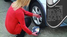 Kontrollera däcken inklusive däcktryck och mönsterdjup Ojämnt slitage indikerar ett behov av hjulinställning. Efter en säsong av tuffa förhållanden, kommer ordentligt inriktade hjul hjälpa till att hålla dig säker på vägen. Kontrollera också för utbuktningar och kala fläckar. Det är tecken på att du behöver handla nya däck. #dubbfriadäck