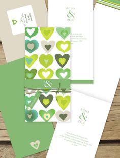 Blooming love - love heart design Lilykiss wedding invitation