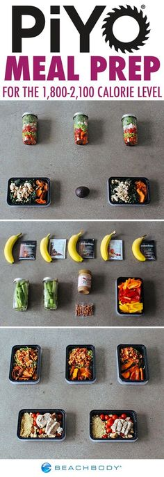 Stock up on a week full of delicious, healthy meals with this PiYo-approved meal prep. Get the grocery list and step-by-step instructions here! // healthy recipes // meal planning // meal prep mondays // meal prepping // fitfam // Beachbody // BeachbodyBlog.com