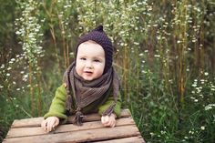 The Enchanted Forest Collection Hand knitted baby and toddler outfits by Gynka Knitwear Baby Bonnet Pattern, Baby Hat Patterns, Knitting Patterns, Baby Hats Knitting, Knitted Hats, Crochet Hats, I Cord, Baby Bonnets, Yarn Needle
