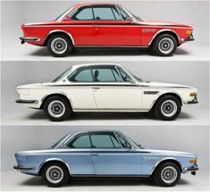 1972 1973 1974 bmw csl e9 coupe collection Reminds me of 50s Studebakers and the 60s Valiants.