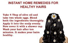 Instant Home Remedies For Healthy Hairs