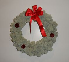 White moss Wreath