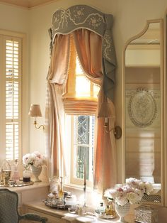 Photography by Pieter Estersohn Classic Window, Drapery Designs, Walk In, Custom Window Treatments, Drapes Curtains, Curtain Valances, Cornices, Classic Interior, French Country House