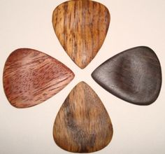 Zebrawood, African Blackwood, Red Oak, and African Mahogany wood guitar picks Guitar Chords, Acoustic Guitar, Ukulele, Cool Guitar Picks, Guitar Tutorial, Guitar Accessories, Sound Of Music, Wedding Humor, Animal Design