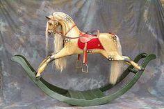 antique replica rocking horse | Antique Rocking horses - G & J Lines rocking horse on a bow rocker.