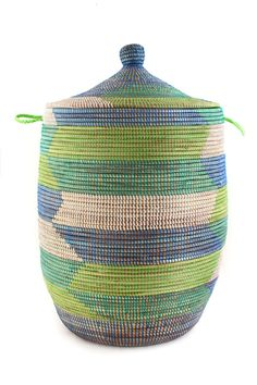 African Laundry Baskets - African Woven Laundry Hampers | Laundry ...