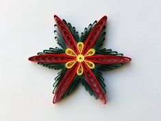 Set of 3 Quilled Snowflakes Quilling Paper Art Christmas Quilling Butterfly, Quilling Flowers, Quilling Cards, Quilling Christmas, Christmas Snowflakes, Christmas Ornaments, Hanging Ornaments, Paper Quilling For Beginners, Paper Quilling Tutorial