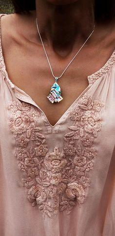 Bismuth Necklace