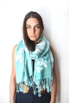#Blue #Lucky Twin #Goldfish Scarf on @BRIKA