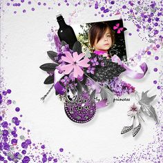 Fifty shades of purple de Samal Designs  http://samaldesigns.com/shop/index.php/tag/product/list/tagId/50 http://www.digiscrapbooking.ch/shop/index.php?main_page=index&manufacturers_id=