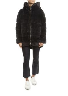 Luxurious Rex Rabbit Coat
