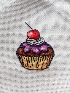 Mój mały świat haftu krzyżykowego: Babeczka Stitch, Full Stop, Sew, Stitches, Embroidery