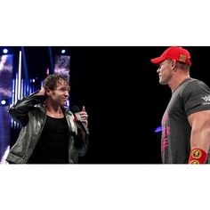 The Authority interrupts a truce between John Cena and Dean Ambrose... ❤ liked on Polyvore featuring dean ambrose and wwe