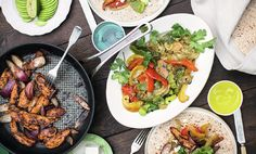 Recipe © Jamie Oliver 2016, from Super Food Family Classics Season 1, Episode 3 Sticking to super-lean chicken breasts is the key to making super-food fajitas, and also provides us with a great source of protein, ensuring our muscles stay strong and healthy. Total Time: 40 minutes, plus marinating Difficulty: Not too tricky Ingredients Serves …