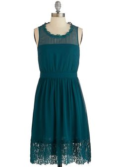 Teal Me a Story Dress in Green. Once upon a time, there was an A-line dress in your closet waiting to be worn. #green #modcloth