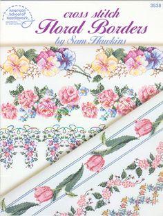 free printable cross stitch patterns flowers | ... » American School of Needlework » Cross Stitch Floral Borders