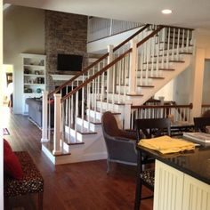 Love The Stairs In The Middle Of The Living Roomkitchen This The Exact Idea I Was Looking For