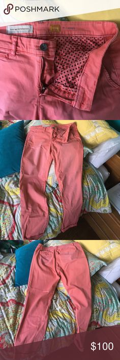 Pink Pilcro Anthropologie Pants - Size 29 🍭 Pink Pilcro Anthropologie Pants - Size 29 🍭.  Perfect condition. Worn once. Size 29. Inseam 29. Cool color… More of like a faded pastel salmon color. Anthropologie Pants
