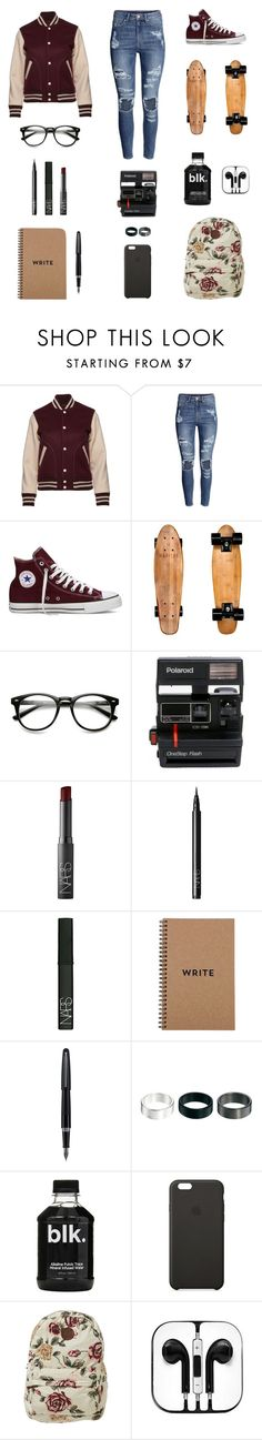 """""""Take me back to the basics and the simple life. Tell me all of the things that make you feel at ease. Your touch, my comfort, and my lullaby. Holdin' on tight and sleepin' at night."""" by musicsavedme1313 ❤ liked on Polyvore featuring Marc Jacobs, H&M, Converse, Polaroid, NARS Cosmetics, Fountain, ASOS and Billabong"""