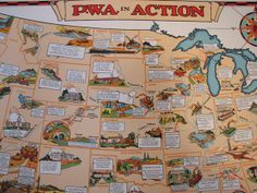 In the 1930's the  Public Work Administration shows all of the bridges and projects that were developed.