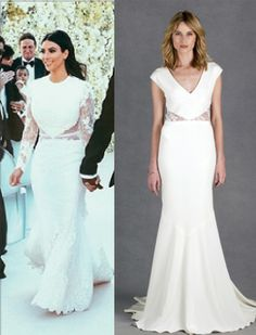 Get Kim Kardashian's look in the Kimberly bridal gown #nicolemiller